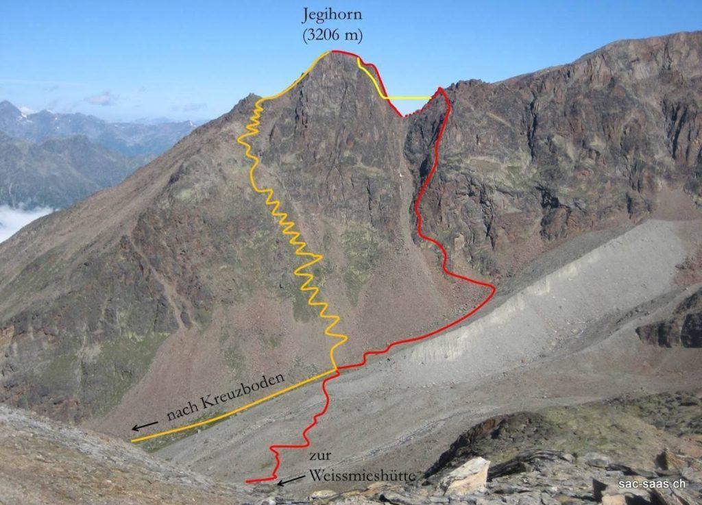 Klettersteig Adelboden : Klettersteig gemmiwand