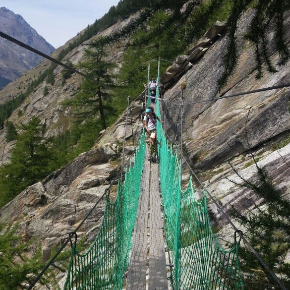 Hängebrücke Erlebnisweg