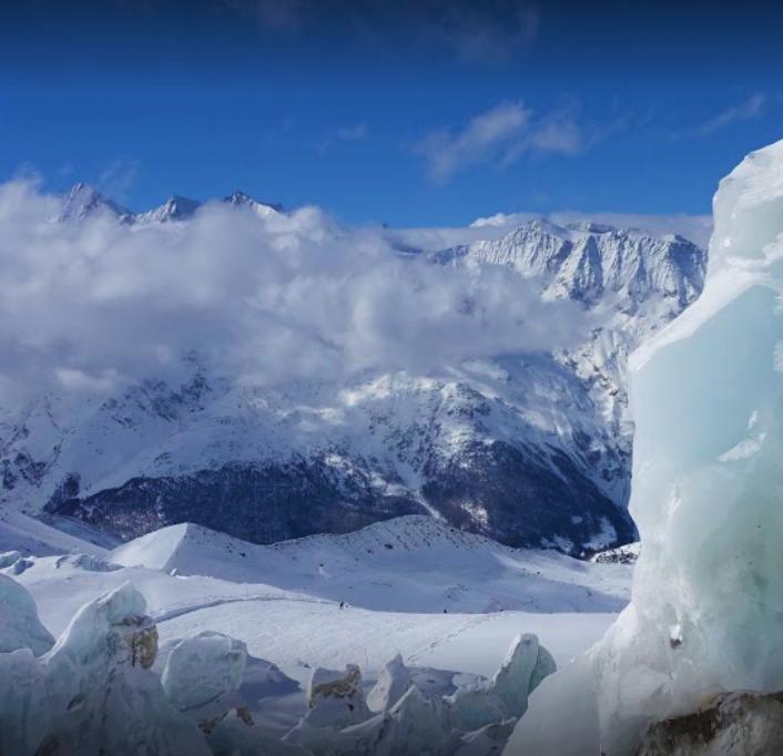Gletscher Skipiste